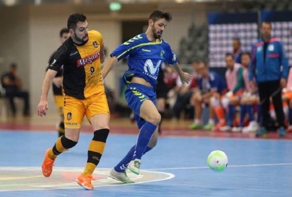 Imagen del partido entre Movistar Inter y Magnus Futsal